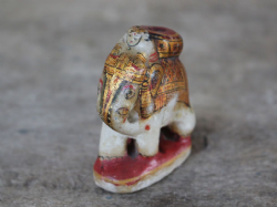 Small Decorated Marble Elephant from 19th Century <b>SOLD<b>